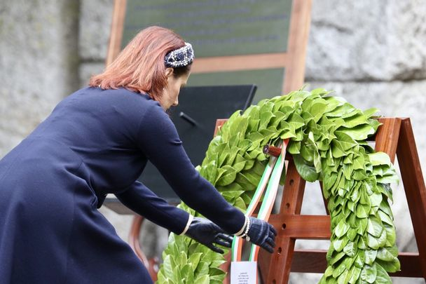 Ireland\'s Culture Minister Josepha Madigan at the National Famine Commemoration.