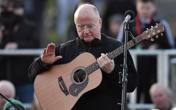 Christy Moore performed the two songs on Thursday.