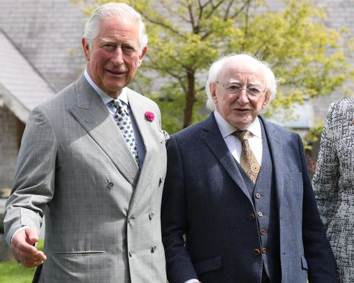 Prince Charles photographed during a 2019 visit to Ireland, alongside President Michael D Higgins.