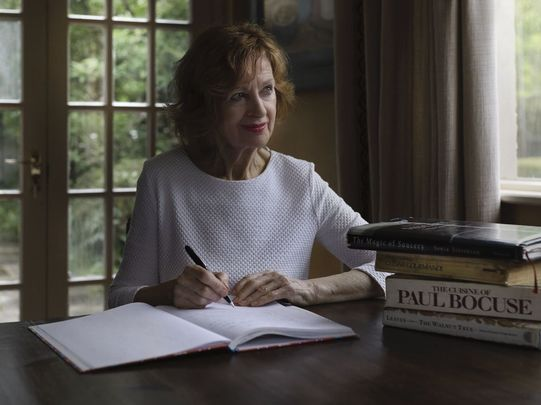 Maura O'Connell Foley writing at her home in Shelborne Lodge.