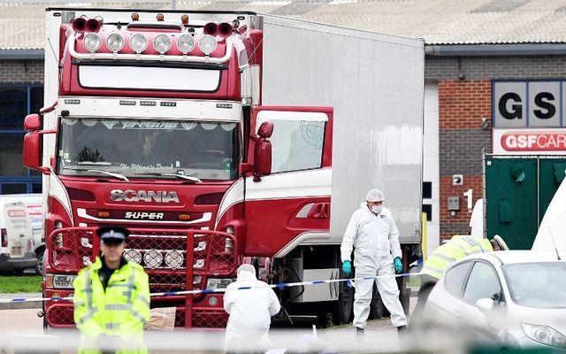 Forensic teams investigate the deaths of 39 vienamese migrants in Essex last year.