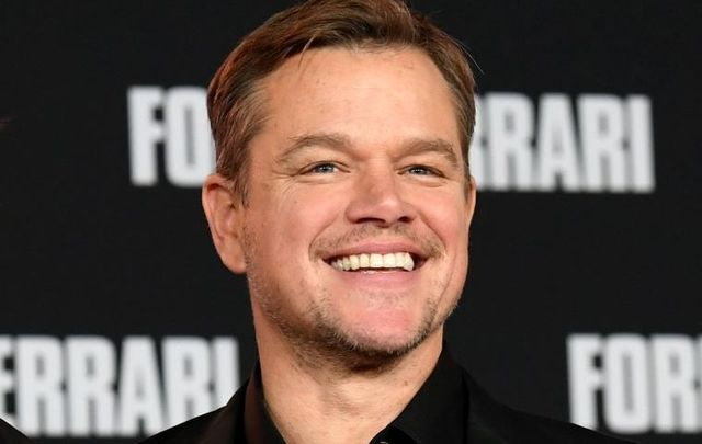 "Matt Damon, pictured here at the \""Ford v Ferrari\"" premiere in November 2019."