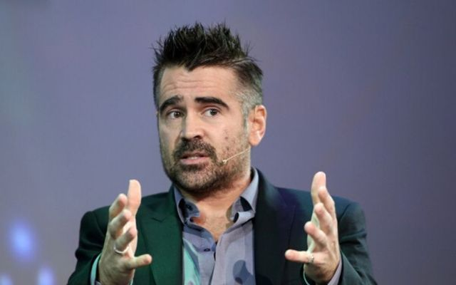 Colin Farrell speaking at Dublin\'s Convention Center last year.