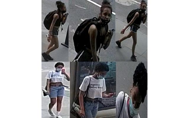 Surveillance video shows the vandals.