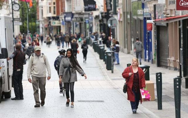 Dublin\'s Grafton Street is busier than it has been in almost three months as businesses prepare to reopen.