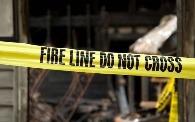 The arson attack took place on Sunday night.