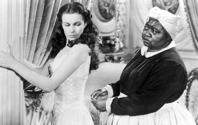 Vivien Leigh and Hattie McDaniel in a still from the 1939 film \'Gone with the Wind.\'