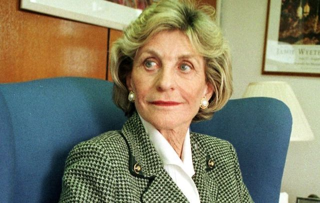 Jean Kennedy Smith, the former US Ambassador to Ireland, in her office at the US Embassy in Dublin in October 1997.