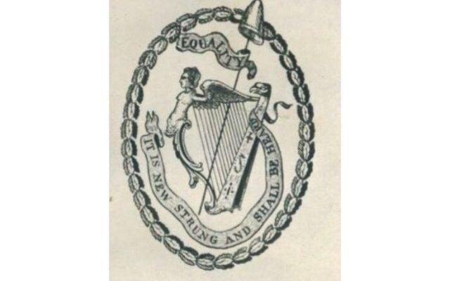 United Irishmen emblem.
