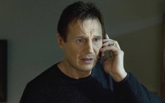 Liam Neeson, as a seriously badass Irish Da, Brian Miller, in Taken.