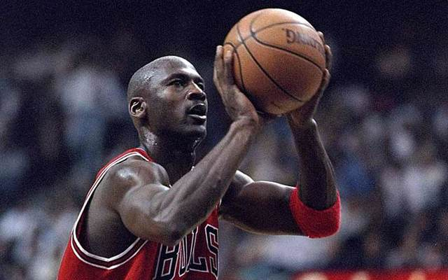 Michael Jordan of the Chicago Bulls in 1998.