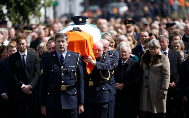 Hundreds gathered for Colm Horkan\'s State Funeral