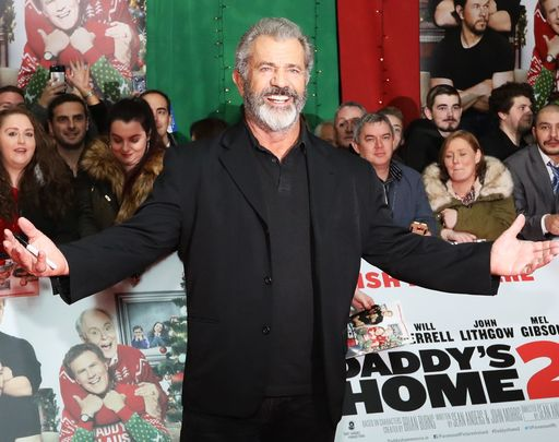 Mel Gibson photographed at the premiere of Daddy\'s Home, in 2017.