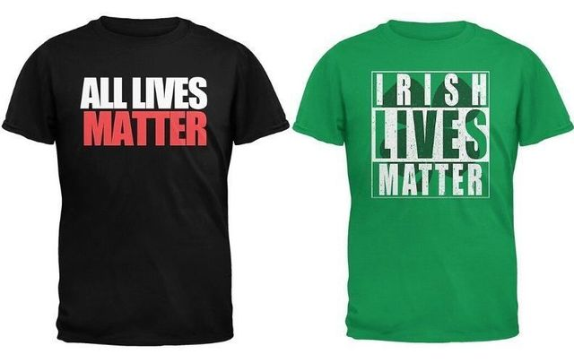 """Old Glory, a third party vendor for Walmart, is selling \""""All Lives Matter\"""" and \""""Irish Lives Matter\"""" products."""