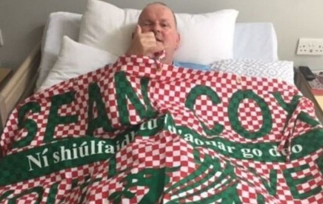 Sean Cox celebrates Liverpool\'s first league title in 30 years.