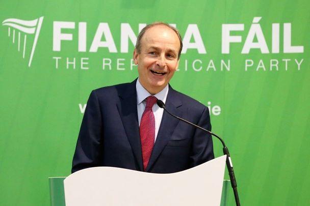 Micheál Martin, the leader of Fianna Fáil, speaking on June 26, 2020.