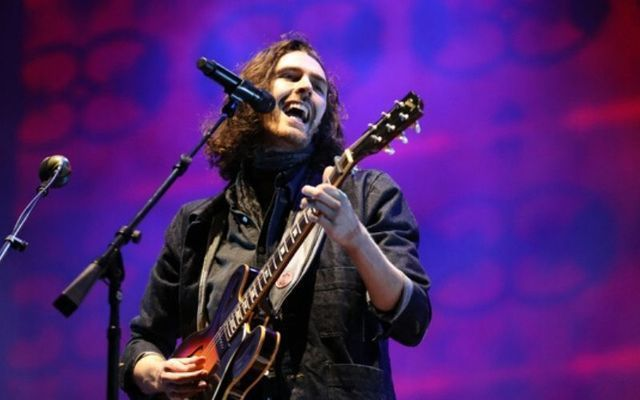 Hozier performed the haunting rendition in an eery Croke Park.
