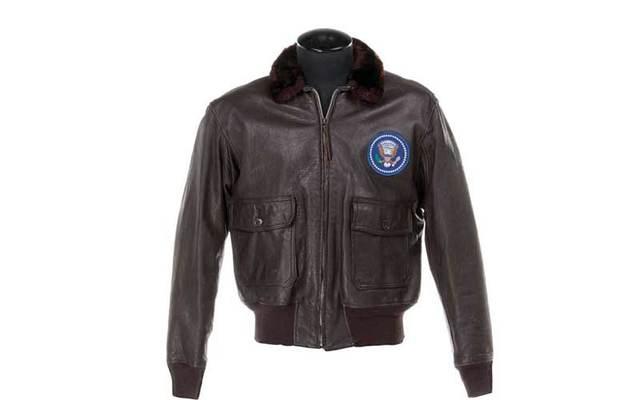 John F. Kennedy's U.S Navy leather bomber jacket.