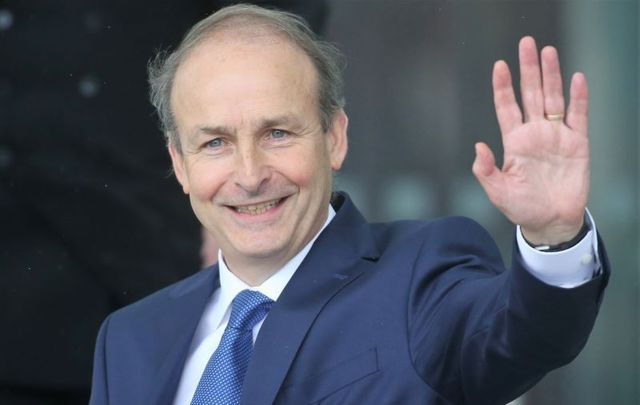 Micheal Martin, pictured here on June 27 when he officially became Taoiseach.