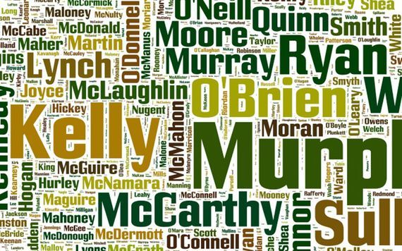 Murphy, Kelly and O\'Sullivan are the three most common Irish surnames.