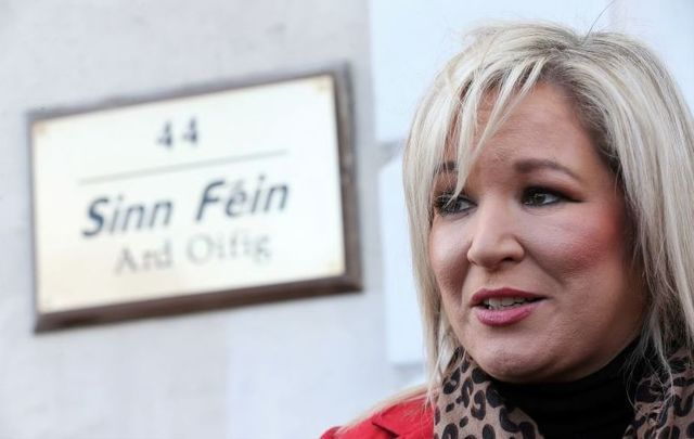 Michelle O\'Neill, pictured here in February 2020, faced criticism for attending the funeral on Tuesday.