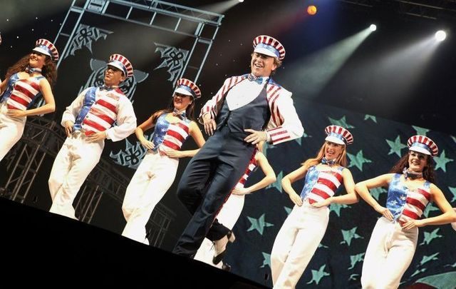 April 18, 2006: Michael Flatley and company perform his latest dance and theatrical spectacular \'Celtic Tiger\' about the history of the Irish people, at Wembley Arena in London, England. The production had its world premiere in Hungary in July 2005, and was followed by the UK premiere in Sheffield last year.