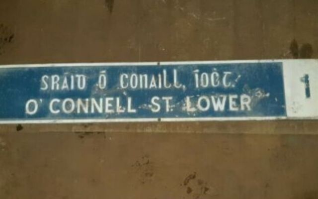 This O\'Connell Street sign is one of several iconic signs up for auction.