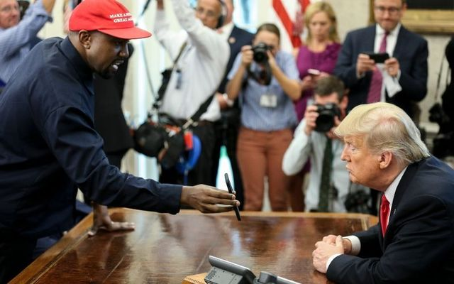 Kanye West with Donald Trump in 2018.