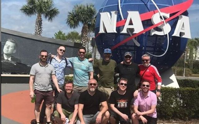 These Irish lads traveled to the Kennedy Space Center as part of their dream holiday.