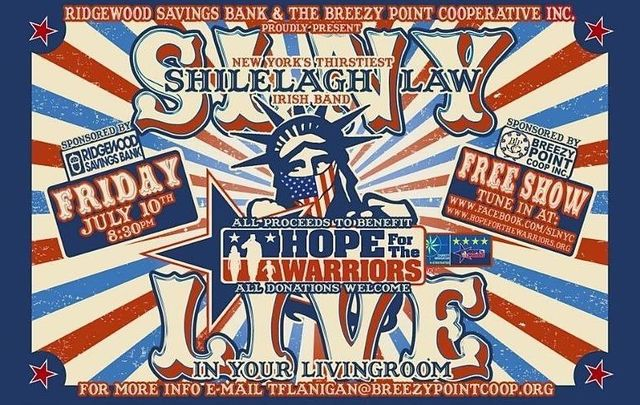 Shilelagh Law is performing live this Friday, July 10 in support of Hope for the Warriors - tune in here!