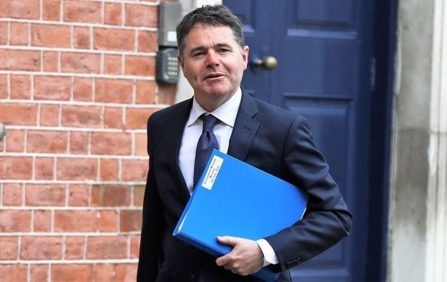 Ireland\'s Minister for Finance Paschal Donohoe, pictured here on July 6, 2020.