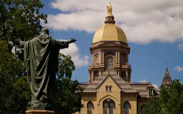 Notre Dame University campus.