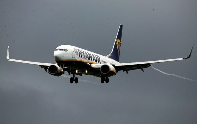 A Krakow -  Dublin Ryanair flight was diverted on Monday after a bomb threat was discovered on board.