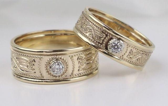 Celtic Warrior wedding rings from Boru Jewelry.