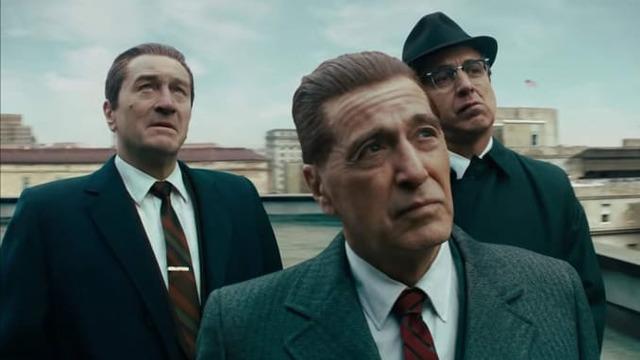 """Robert Di Nero, Al Pacino, and Ray Ramano star in \""""The Irishman.\"""""""