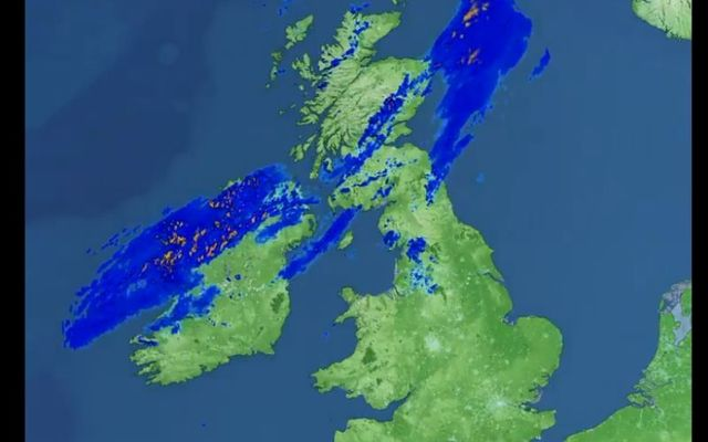 The UK Met Office shared the radar images on Friday, July 17.