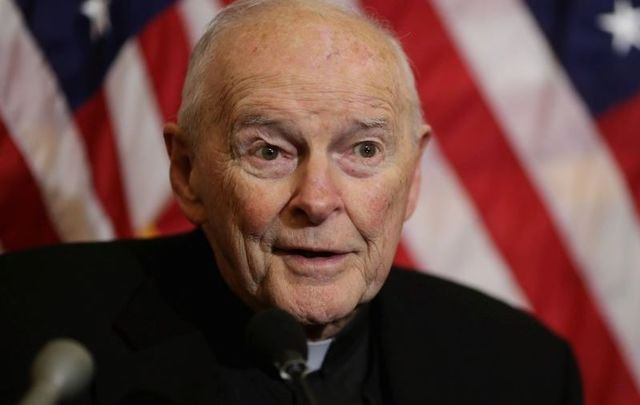 Ex-Cardinal Theodore McCarrick, pictured here in 2015.