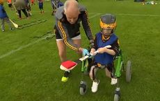 Six-year-old hurler with cerebral palsy is an inspiration