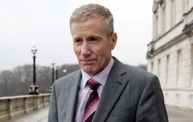 DUP MP Gregory Campbell, pictured here outside of Stormont in Northern Ireland in 2010.