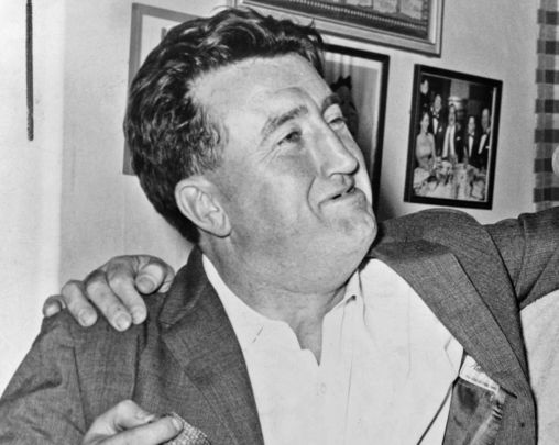The Irish author and famous wit, Brendan Behan.