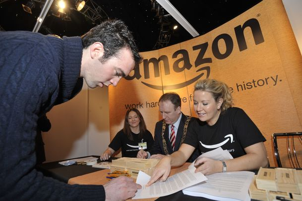 An Amazon kiosk at a 2011 Career Zoo event in Dublin.