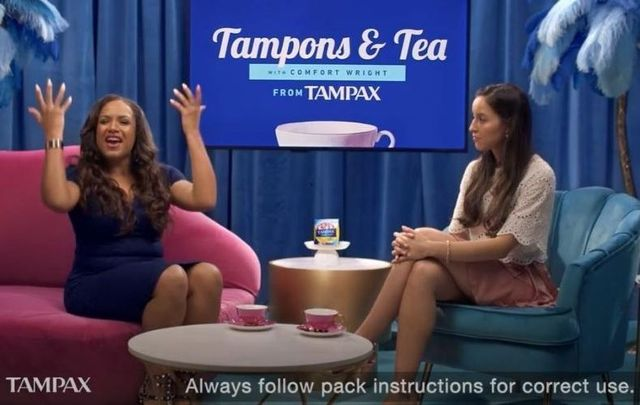 "The ""Tampons and Tea\"" Tampax ad from Procter & Gamble cannot air in Ireland as per the ASAI."