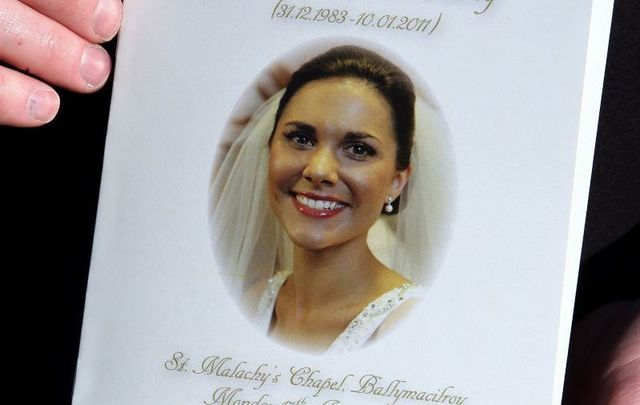 January 17, 2011: The order of service for Michaela McAreavey\'s funeral mass at St Malachy\'s church outside Ballygawley in Co Tyrone.