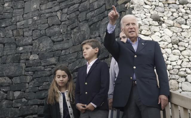 Joe Biden touring Newgrange, in County Meath, with his grandchildren, in 2016.