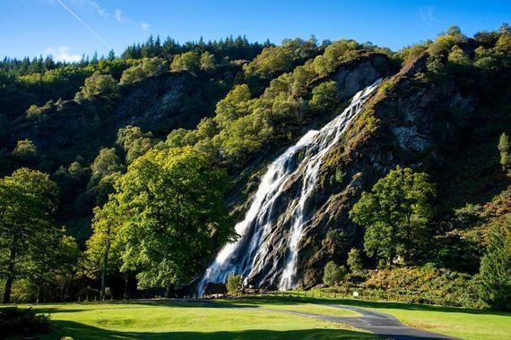 Powerscourt Waterfall is a popular tourist destination in County Wicklow.