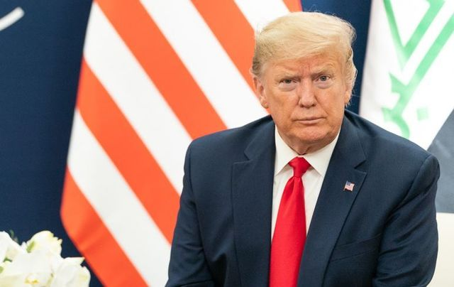 President Donald Trump photographed at Davos.