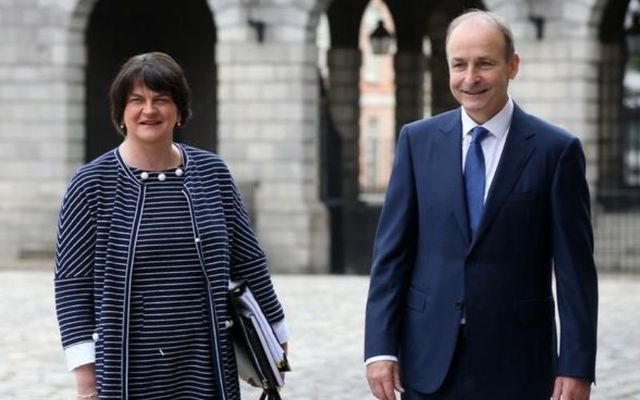 Arlene Foster said she was disappointed by Martin\'s comments.