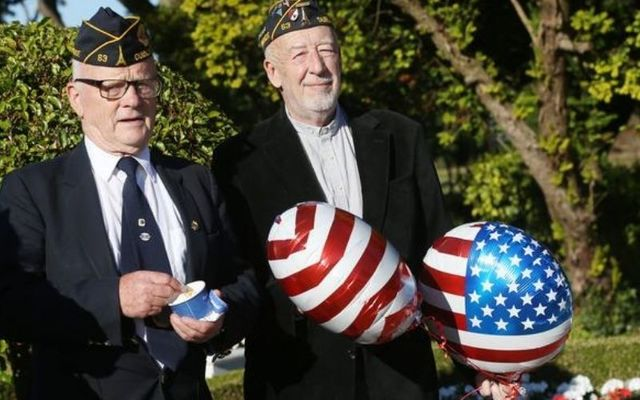Michael Coyne (right) at a July 4th celebration in Dublin.