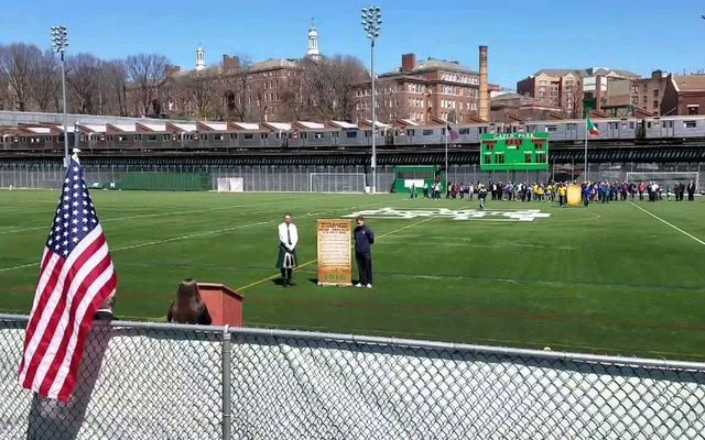 Gaelic Park, the home of the GAA, in New York.