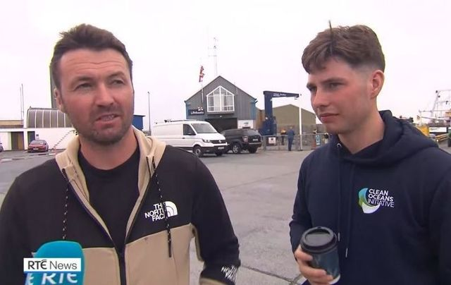 Irish fishermen Patrick Oliver and his son Morgan are being hailed as heroes after rescuing two stranded paddleboarders off the coast of Co Galway.